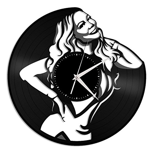 VinylShopUS – Mariah Carey Vinyl Wall Clock Music Bands Musicians Themed Travel Souvenir| Home Decoration Review