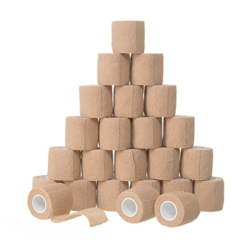 Self Adhesive Bandage Rolls 24pk Strong Elastic Adherent First Aid Tape by Unknown