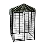 Skrootz Wire Welded Dog Kennel 6'H X 4'W X 4'L Great for Indoor Or Outdoor Use with Cover
