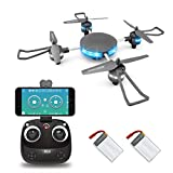 LBLA Wifi FPV Drone with Camera, 2 Batteries, Headless Mode Quadcopter with LED light, One Key Start and Return for Beginners