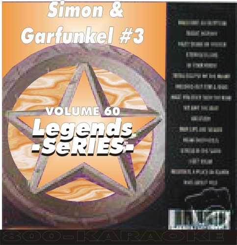 Simon & Garfunkel #3 Karaoke Disc - Legends Series - Simon Paul Karaoke