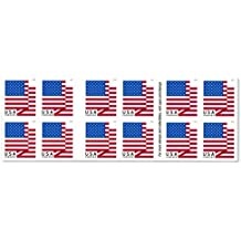 U.S. Flag - 2018 USPS Forever First Class Postage Stamp U.S. Forever 50 Cents Patriotic American Flag Sheets - Booklet of 20 Stamps