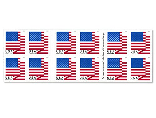 U.S. Flag - 2018 USPS Forever First Class Postage Stamp U.S. Forever 50 Cents Patriotic American Flag Sheets - Booklet of 20 Stamps (Stamp Us Postage)