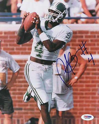 (Plaxico Burress Signed 8x10 Photograph Michigan State - Certified Genuine Autograph By PSA/DNA - Autographed Photo)