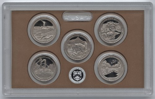 2011-S America the Beautiful Quarters CLAD PROOF Set (5 Coins)