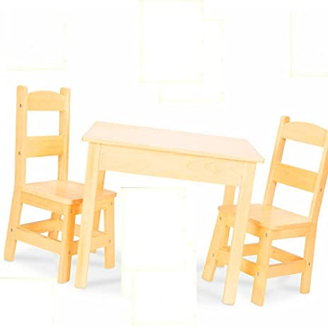 Amazon.com: Toddler Snack Table Wood Dining Table Set Kitchen Rustic ...