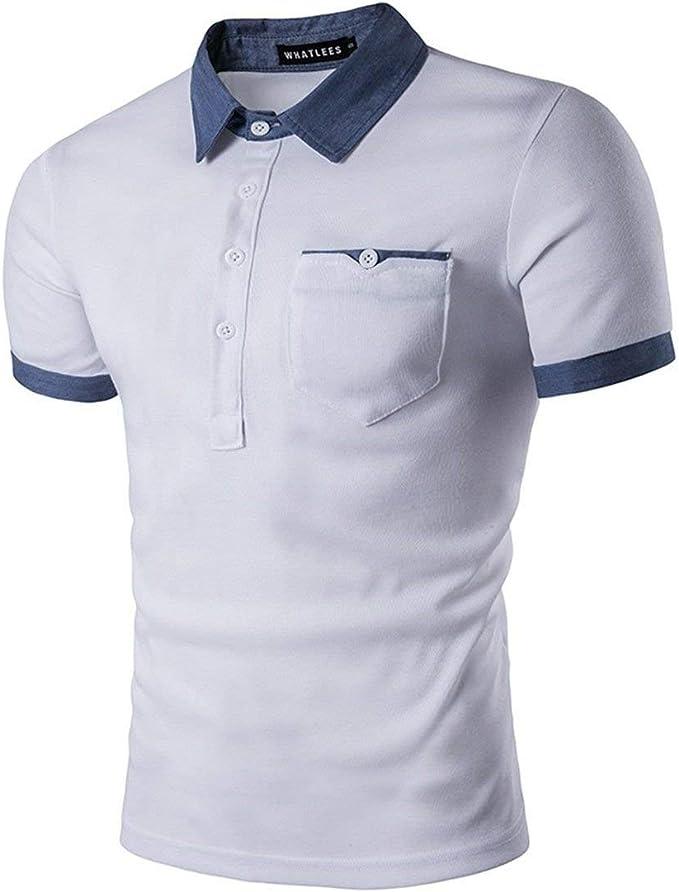 Camisa De Polo Casual para Hombre Polo Camisa Fit De Slim De Manga ...