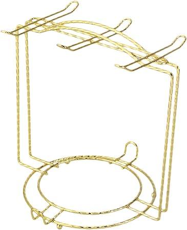 Stile A nero Yontree 6 ganci Albero porta tazze piatti Organizer metallo
