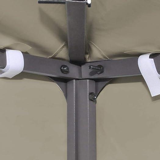 vidaXL Gazebo Cover Canopy Replacement 9.14 oz/yd Beige 10'x13'