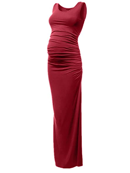 Pinkydot Womens Ruched Tank Maternity Maxi Dress Party And Baby