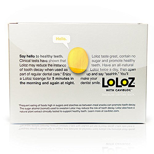 Loloz - Anti Cavity Lemon Lozenges - 3 To 6 Months of Protection (20 pieces) by HealthyGrid