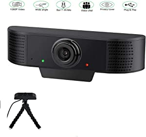 Webcam 1080P with Microphone,Computer USB Camera for Gaming,Video,Conferencing, Webcam for Desktop & Laptop Win/iOS MAC or PC,30PDS