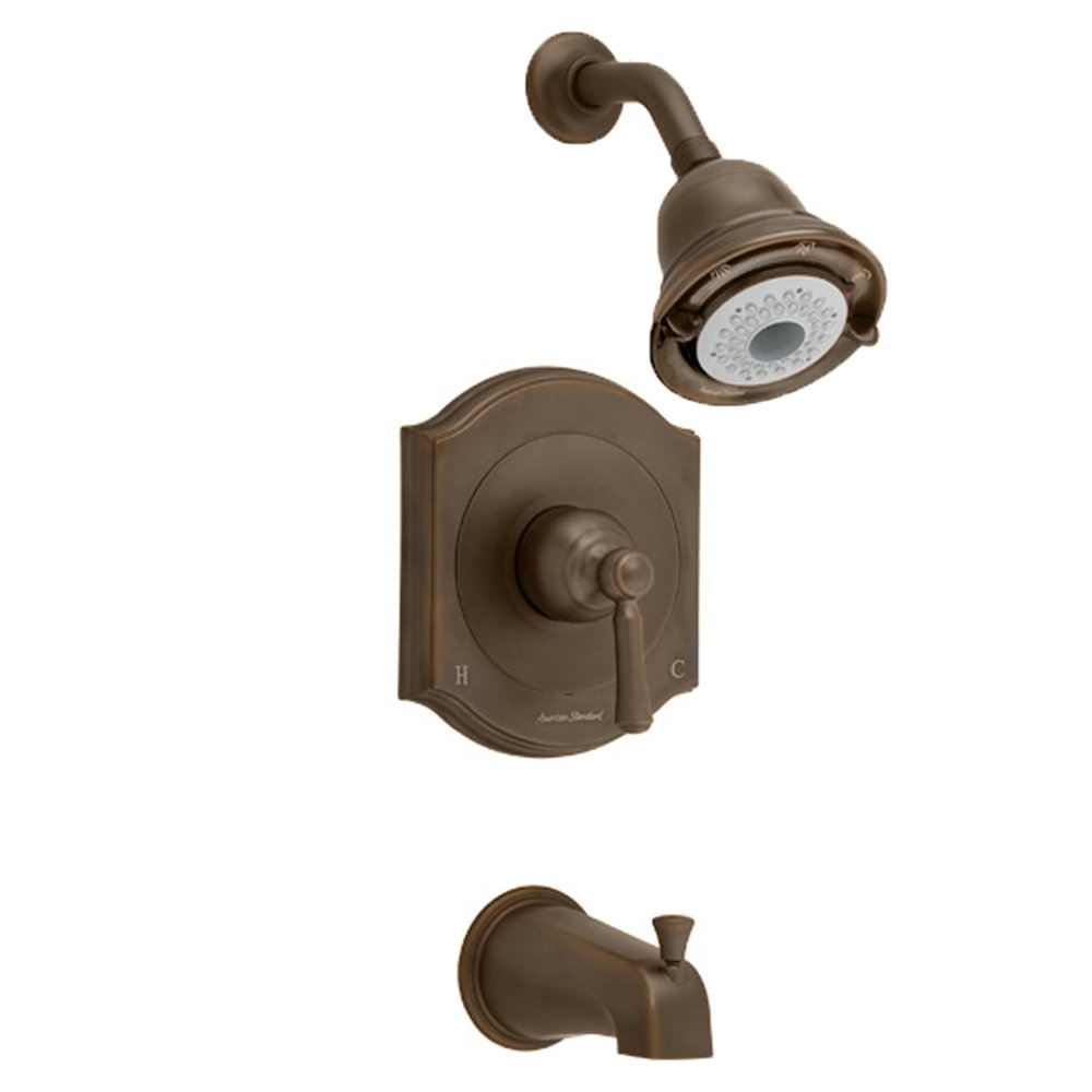 American Standard T415502.224 Portsmouth Bath and Shower Trim Kit with Square Escutcheon, Oil Rubbed Bronze