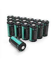 Batteria CR123A 16pcs RAVPower 1500mAh Batteria al Litio per Arlo