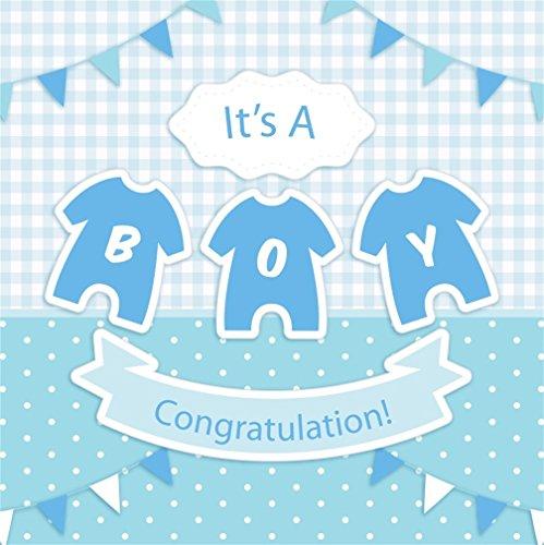 CSFOTO 8x8ft Background for Sweet Boy Baby Shower Photography Backdrop Banner Pregnacy Announcement Gender Reveal Party Joy Congratulation Welcome Little One Photo Studio Props Vinyl Wallpaper (Photo 8' Album Digital)