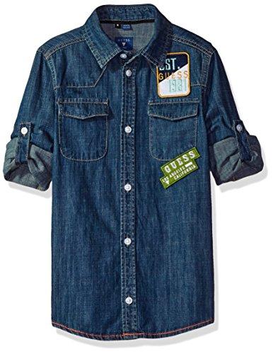 GUESS Sleeve Denim Patch Shirt