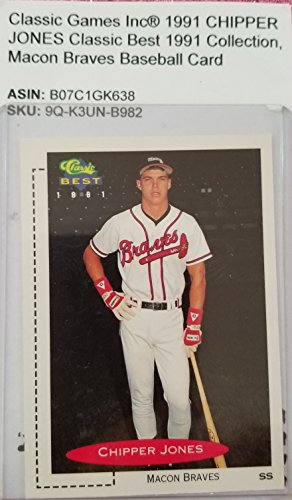 Baseball 1991 Classic (1991 Classic Games Inc® CHIPPER JONES, Macon Braves™ Classic Best 1991 Collection™ Baseball Card)