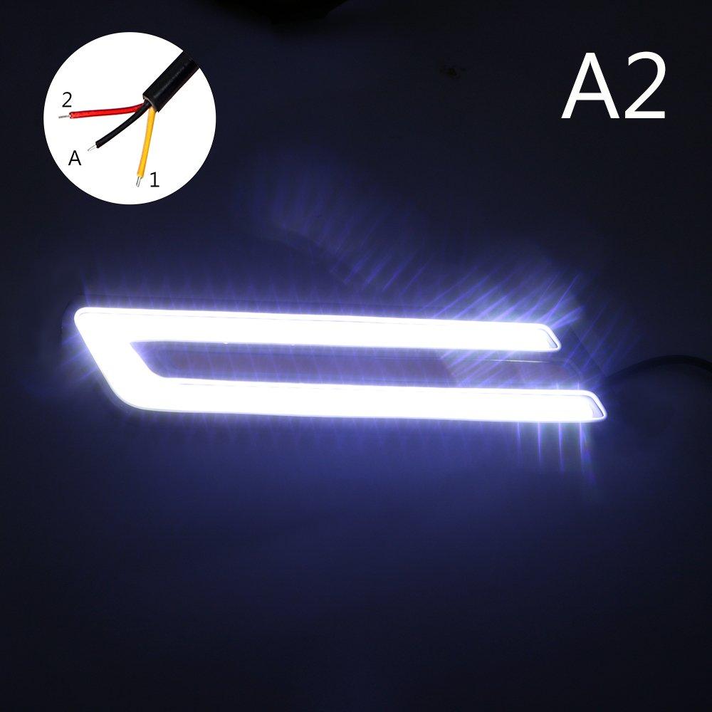1 par de luces LED de conducci/ón diurna flexibles DRL para coche