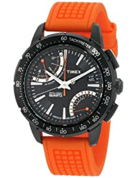 Timex Men's T2N707 Intelligent Quartz SL Series Fly-Back Chronograph Orange Silicone Strap Watch
