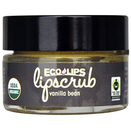 Eco Lips Organic Vanilla Bean Flavor Lip Scrub, 0.5 Ounce - 6 per case.