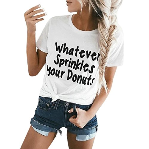 Wintialy Women Short Sleeve Tops Printed Casual Blouse T-Shirt Tee from Wintialy women clothes