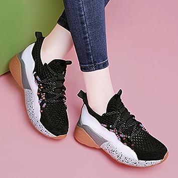 GTVERNH Zapatillas de Deporte Mujer Primavera Joker Verano Ocio Zapatos de Malla Transpirable: Amazon.es: Deportes y aire libre