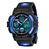 My-My Outdoor Toys for 5-12 Year Old Boys, LED 50M Waterproof Digital Sport Watches for Kids Birthday Presents Gifts for 5-12 Year Old Boys Toys Age 5-12 ZHBlue MMUSPW01: more info