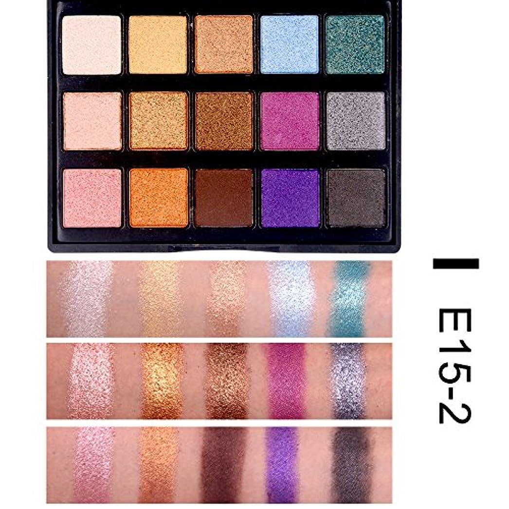 地震ディレイ鎖(E15-2) 15 Color Eye Shadow luminous Glitter Natural Easy to wear Shimmer Waterproof Matte Eyeshadow Palette Makeup