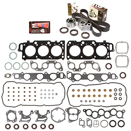 Evergreen HSTBK2044 Head Gasket Set Timing Belt Kit Fits 99-04 Toyota Lexus ES300 RX300 3.0 DOHC 1MZFE ()