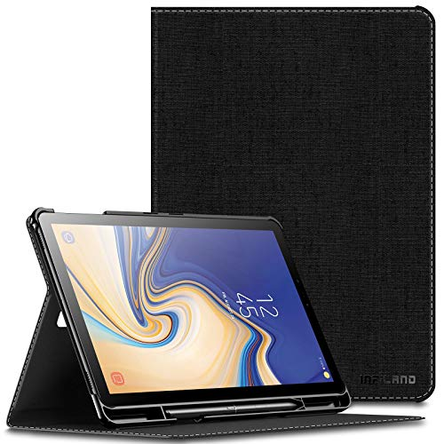 Infiland Samsung Galaxy Tab S4 10.5 Case with S Pen Holder, Multiple Angle Stand Cover Support Auto Wake/Sleep for Samsung Galaxy Tab S4 10.5 Model SM-T830/ T835 2018 Release, Black