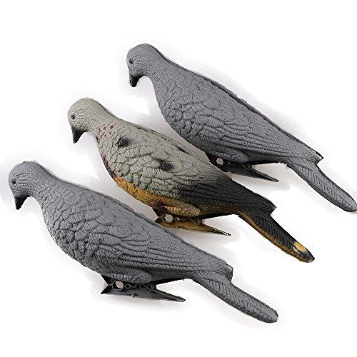 IRQ EVA Foam Archery 3D Animal Pigeon Bait Decoy, Dove for Slingshot Shooting Practice, Decoration Indoor or Courtyard 3pcs