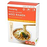 Clearspring Organic Japanese Miso Ramen Noodles with Miso Ginger Soup 170g - Pack of 6