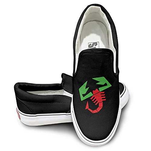 PTCY Fiat Karl Abarth Canvas Unisex Flat Canvas Shoes Sneaker 39 Black