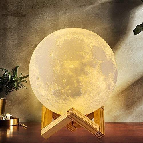 Muweha Moon Lamp USB Charging dimmable Night Light for Kids 5.9 inch 16 Color Moon Light with Remote /& Touch Control