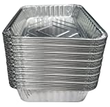 TYH Supplies Set of 30 Small Disposable 7-1/2-Inch by 5-inch BBQ Drip Pan Tray Aluminum Foil Tin liners for grease catch pans Replacement Liner Trays 7.5'' x 5'' Bulk Package