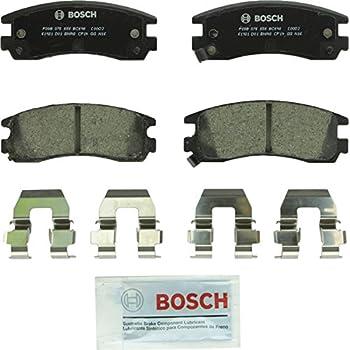 Bosch BC698 QuietCast Premium Ceramic Disc Brake Pad Set For Select Buick Allure, Century, LeSabre, Regal; Chevrolet Impala, Monte Carlo; Oldsmobile; Pontiac Grand Am, Grand Prix, Montana + More; Rear