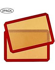 Estera para Hornear de Silicona RabbitStorm Non-Stick Silicone Baking Mat - 2 Pack- Macaron/Pastelería/Galleta/Bollo/Pan/Pizza- Profesional Antiadherente de Grado
