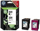 HP 301 Black and Tri-color Original Ink Cartridges (Pack of 2)