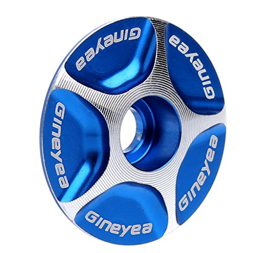 NEW Aluminum Threadless Road MTB Bike Stem Accessories Headset Top Cap Cover (Blue)