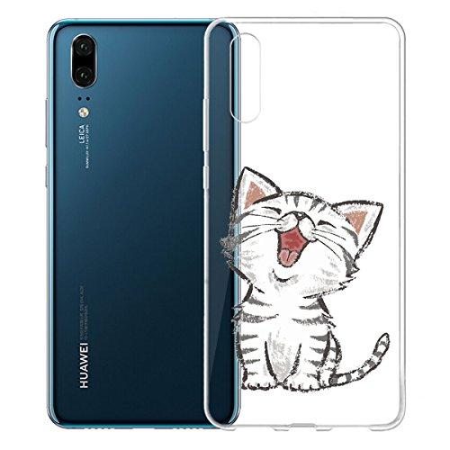 Funda para Huawei P20 , IJIA Transparente Adorable Pony TPU Silicona Suave Cover Tapa Caso Parachoques Carcasa Cubierta para Huawei P20 (5.8) WM104