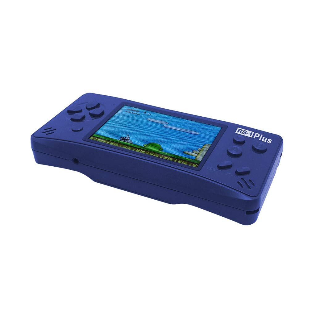 Likero Handheld Game Console,RS-1Plus Portable Handheld Mini Video Console Children Gift 218 Classic Game,Retro Game Console Can Play on TV, Good Gifts for  (Blue) by Likero (Image #2)