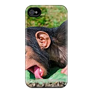 Shock-dirt Proof Animals Monkeys Drinking Monkey Case Cover For Iphone 4/4s