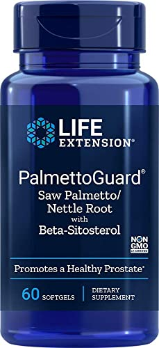 Life Extension PalmettoGuard Saw Palmetto Nettle Root Formula with Beta-Sitosterol, 60 Softgels