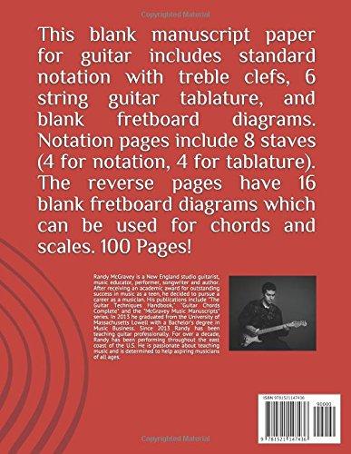 Guitar Tablature Manuscript Fretboard Diagram And Notation Paper