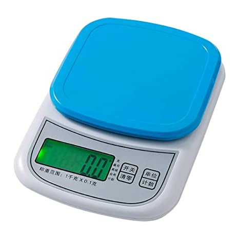 Básculas de cocina Básculas De Alimentos Azules Pantalla LCD ...