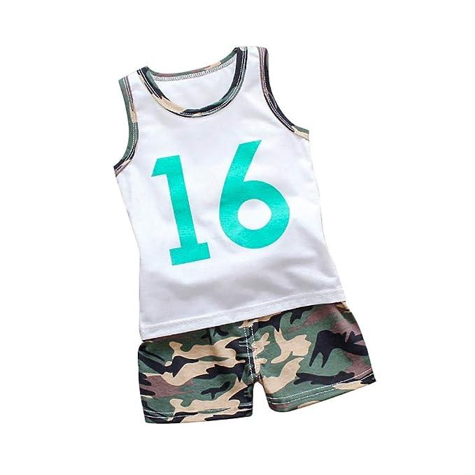 Conjunto de Deporte Niño, K-youth Ropa Deportiva Baloncesto Niños Chaleco Número Letras Chico Conjuntos de Camiseta y Pantalon Cortos Shorts 2 Piezas ...