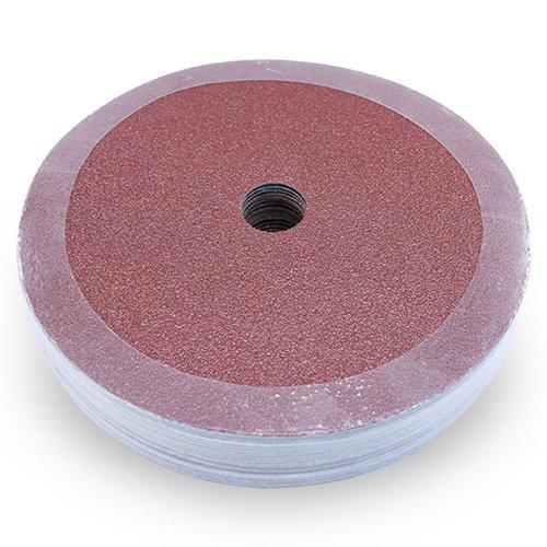 Black Hawk Aluminum Oxide Resin Fiber Discs, 120 Grit, 7-Inch Diameter x 7/8-Inch Arbor Hole, Pack of 25