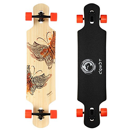 Price comparison product image DGWBT Bamboo Maple 41 inch Drop Through Longboard Skateboard Complete