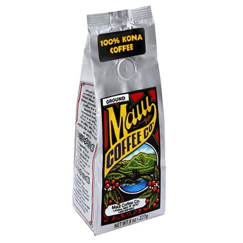 Maui Coffee Company 100% Kona Coffee (Ground), 7-Ounces (Pack of 2)
