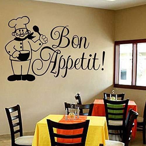 (Food Wall Decals Posters Décor - Pizza Pasta Italian Cuisine Bon Appetit Art Décor Vinyl Stickers Pictures - Bar Restaurant Café Kitchen Decorations)